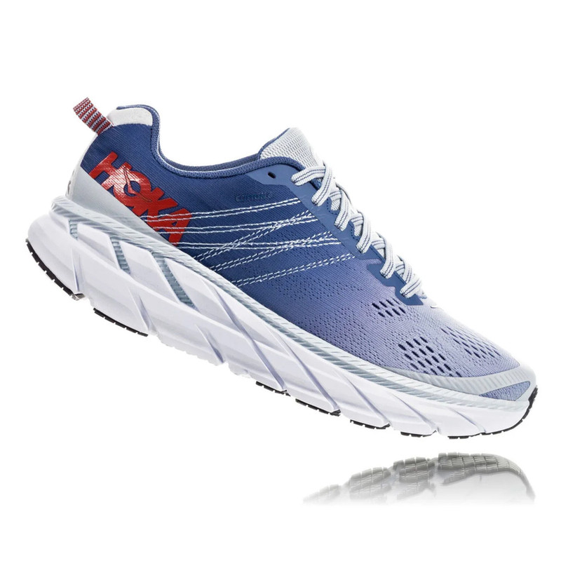 HOKA ONE ONE Women's Clifton 6 - Plein Air / Moonlight Blue (Wide Width) - 1102877-PAMB - Profile