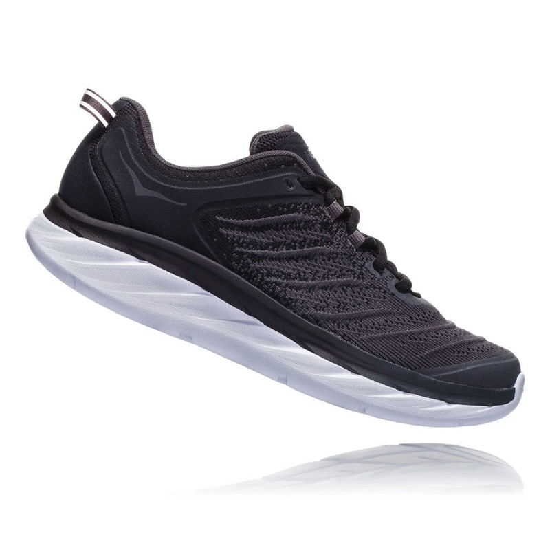 HOKA ONE ONE Women's Akasa - Black / Dark Shadow (Wide Width) - 1104113-BDSD - Profile
