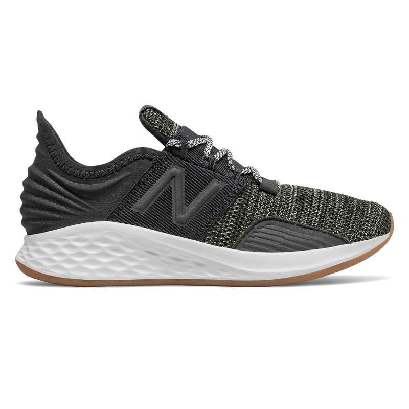New Balance Boy's Fresh Foam Roav (Pre-School) - Black with Summer Fog - PEROVKB - Profile