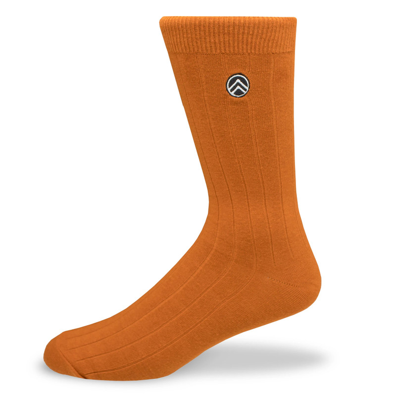 Sky Outfitters Crew Socks - Rust - Profile