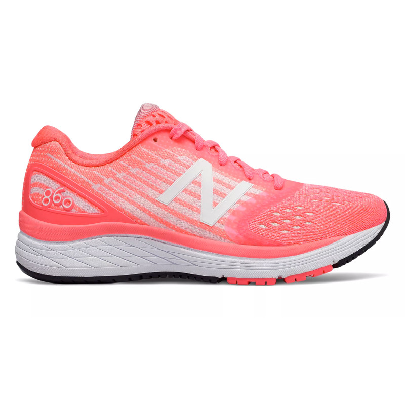 New Balance Kid's 860v8 Grade School Running - Guava with Sunrise Glo - YP860KG - Profile