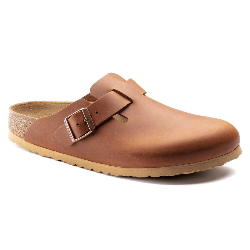 Birkenstock Boston - Antique Cognac (Regular Width) - 1015540 - Angle
