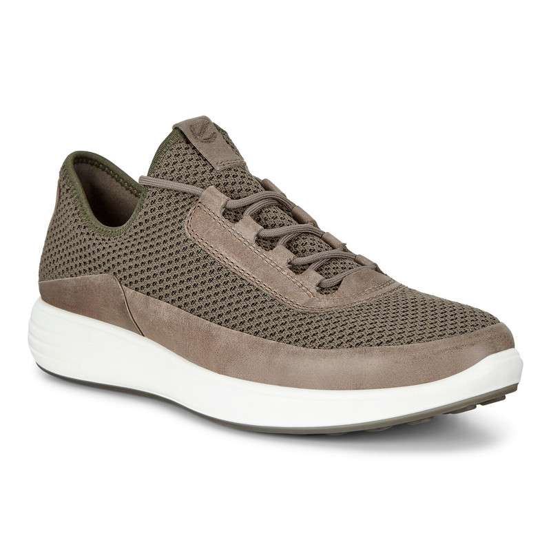 ECCO Men's Soft 7 Runner Mesh Sneakers - Dark Clay - 460674-57181 - Angle