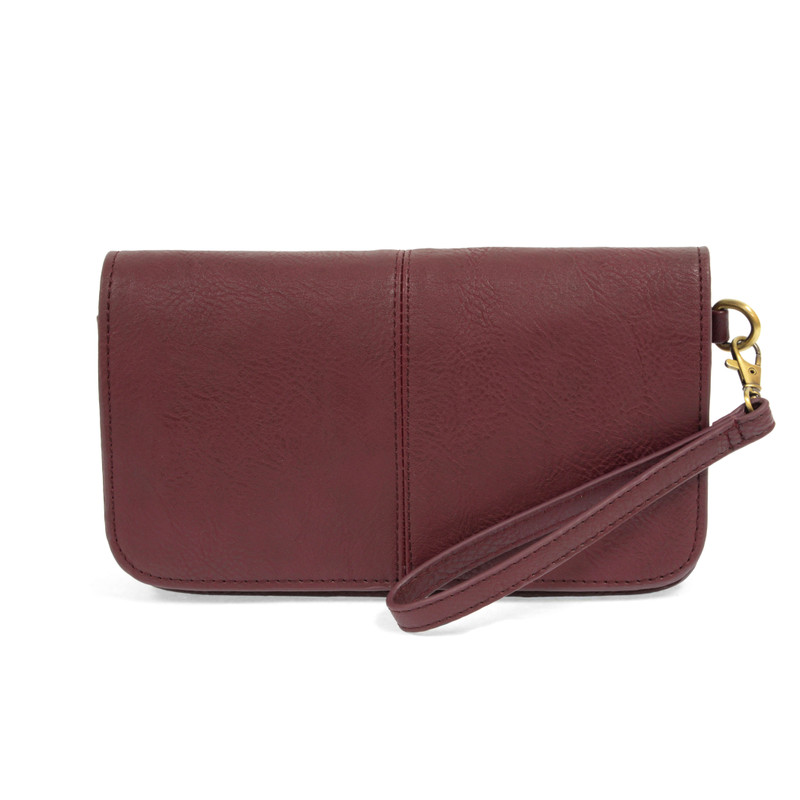 Joy Susan Mia Multi Pocket Crossbody Clutch - Burgundy - L8042-53 - Profile