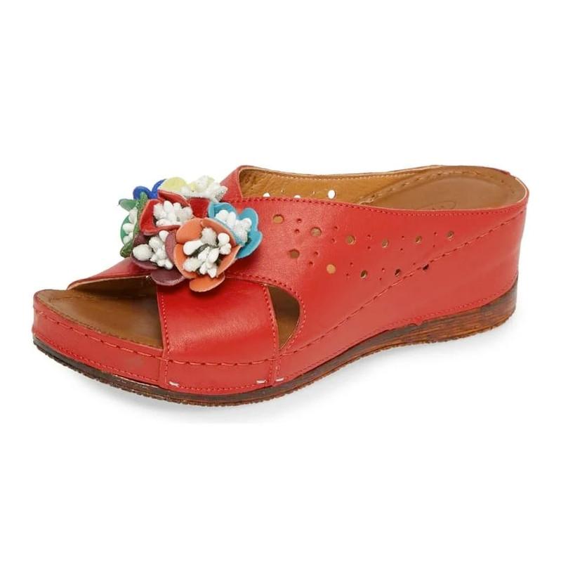 Sheridan Mia Women's Kiras Slide Sandal - Red - KIRAS/RED - Angle