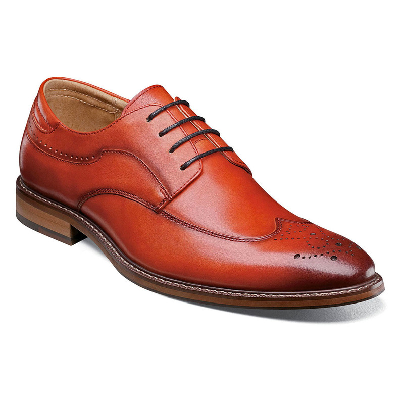 Stacy Adams Men's Fletcher Wingtip Oxford - Cranberry - 25303-608 - Angle