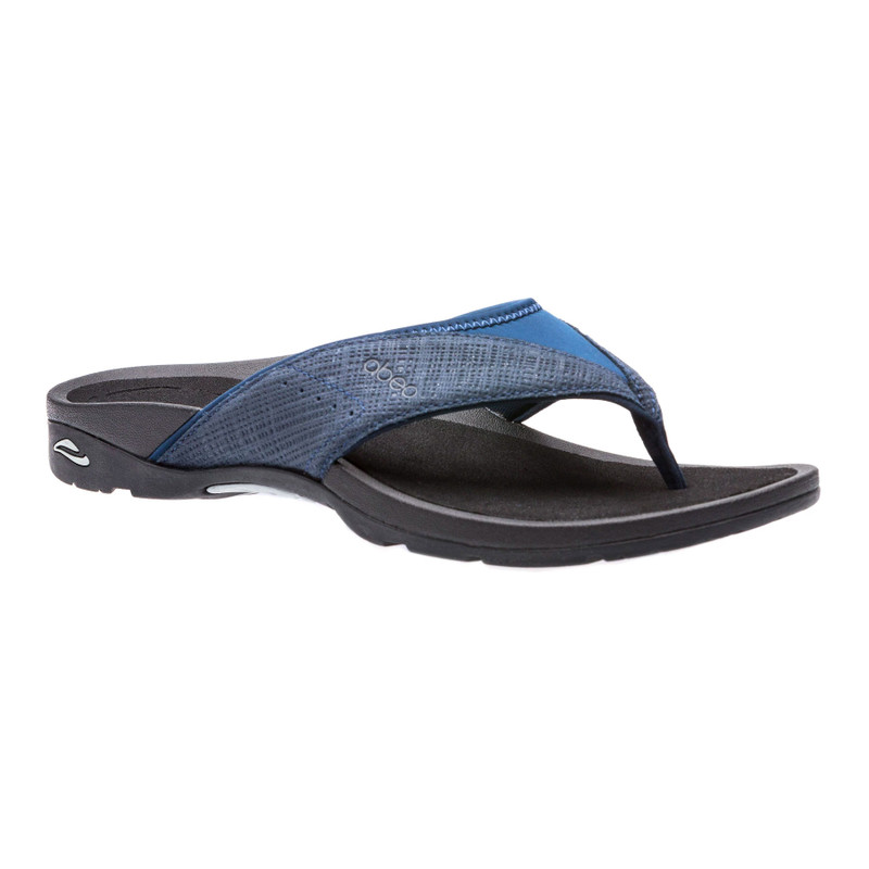 Abeo Women's Balboa - Navy-Black Metallic Nubuck (Neutral Footbed) - BALBOA-N-NAVY/BLK - Angle