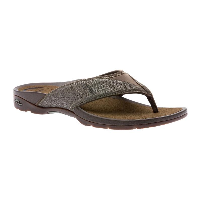 Abeo Women's Balboa - Olive Metallic Nubuck (Neutral Footbed) - BALBOA-N-OLIVE - Angle