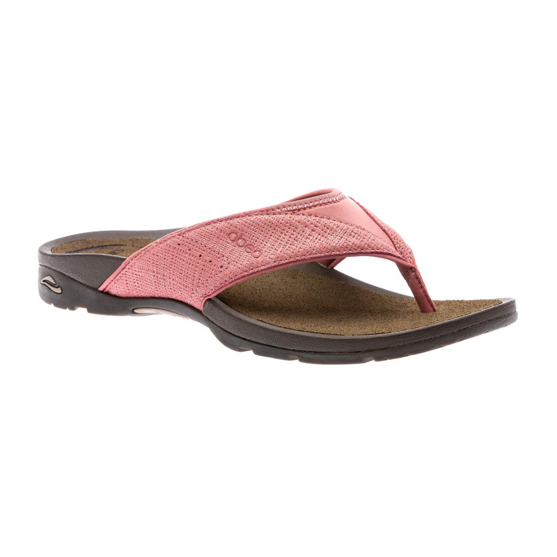 Abeo Women's Balboa - Terracotta Metallic Nubuck (Neutral Footbed) - BALBOA-N-TERRA - Angle