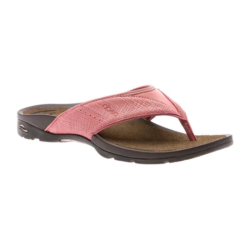 Abeo Women's Balboa - Terracotta Metallic Nubuck (Neutral Footbed) - BALBOA-N-TERRA - Angle