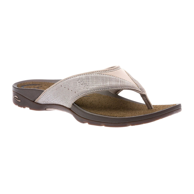 Abeo Women's Balboa - Walnut Metallic Nubuck (Neutral Footbed) - BALBOA-N-WALNUT - Angle