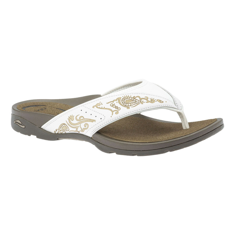 Abeo Women's Balboa - White Henna (Neutral Footbed) - BALBOA-N-WHITE- Angle