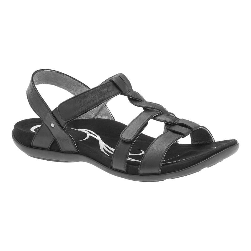 Abeo Women's Bea - Black (Neutral Footbed) - BEA-N-BLACK - Angle