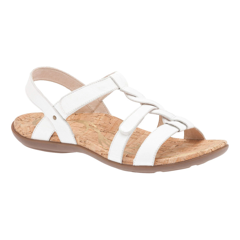 Abeo Women's Bea - White (Neutral Footbed) - BEA-N-WHITE - Angle
