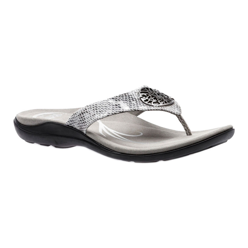 Abeo Women's Beauty - Grey Snake (Neutral Footbed) - BEAUTY-N-GREYSNAKE - Angle