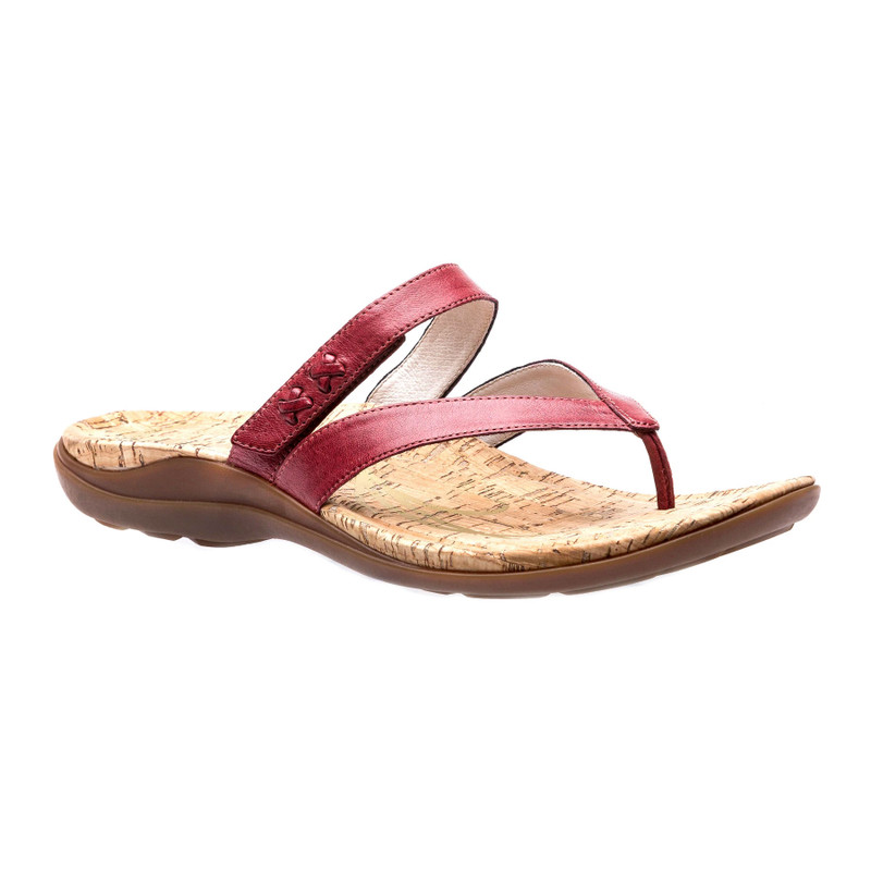 Abeo Women's Benefit - Red (Neutral Footbed) - BENEFIT-N-RED - Angle