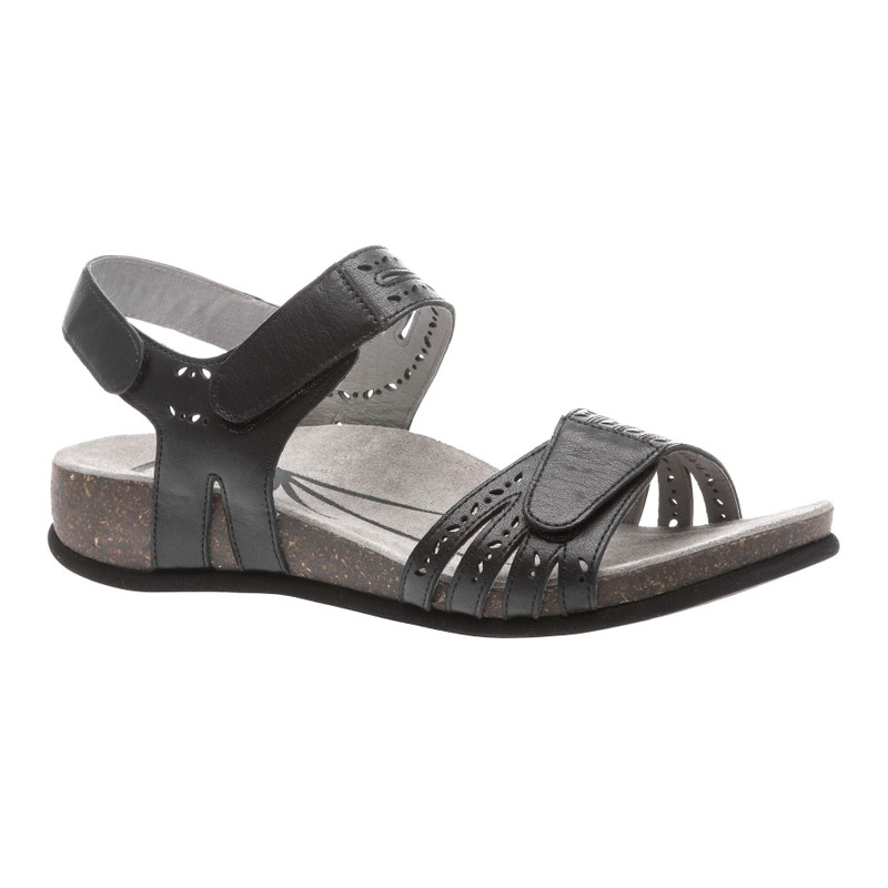 Abeo Women's Bijou - Black (Neutral Footbed) - BIJOU-N-BLACK - Angle
