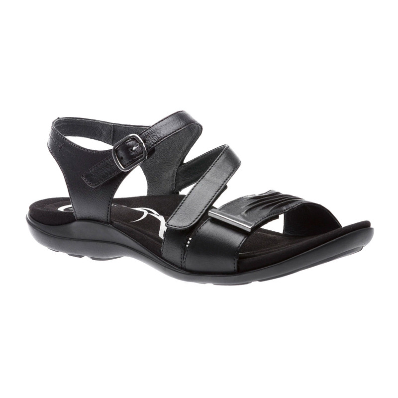Abeo Women's Bliss - Black (Neutral Footbed) - BLISS-N-BLACK - Angle