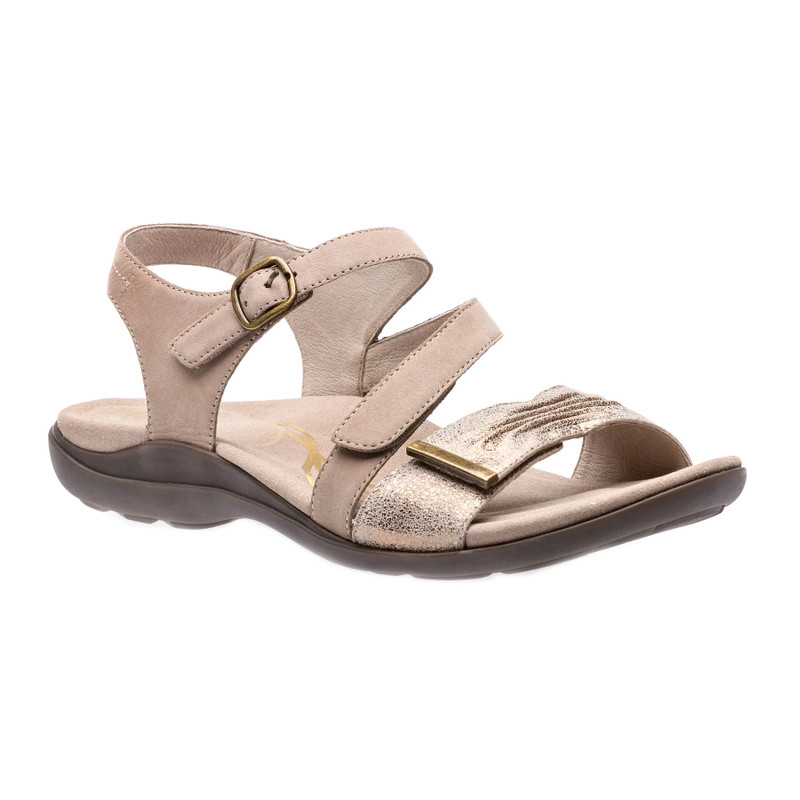 Abeo Women's Bliss - Light Taupe (Neutral Footbed) - BLISS-N-TAUPE - Angle