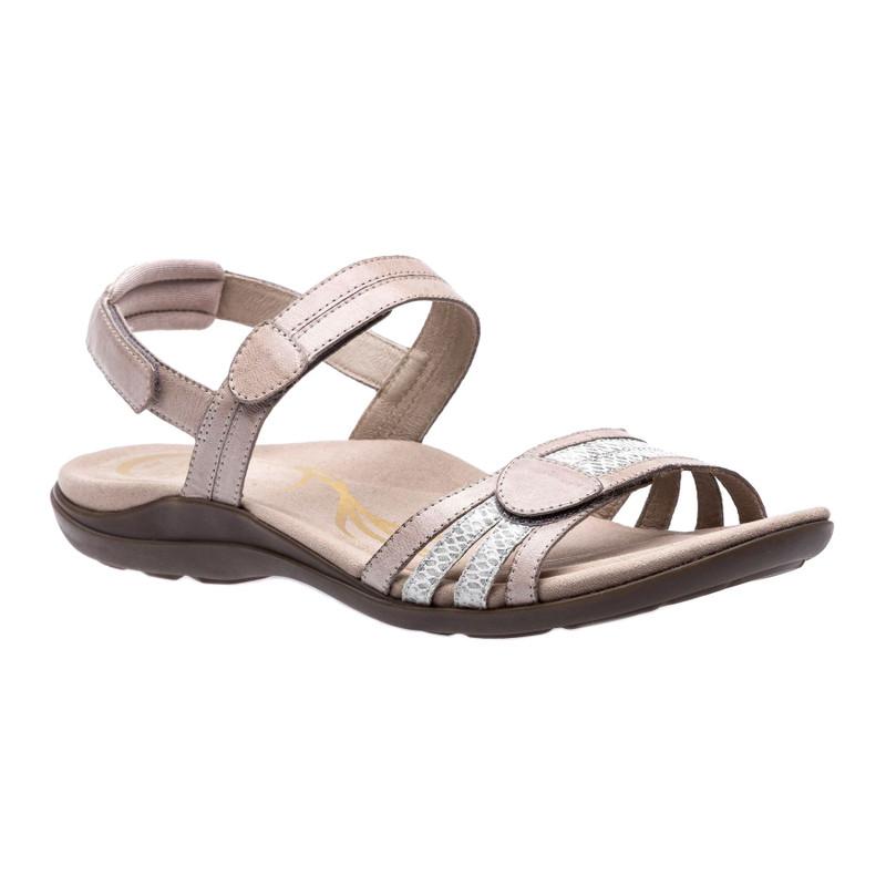 Abeo Women's Brynn - Grey Leather (Neutral Footbed) - BRYNN-N-GREY - Angle