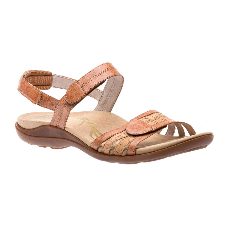 Abeo Women's Brynn - Stone-Cork Leather (Neutral Footbed) - BRYNN-N-STONECORK - Angle