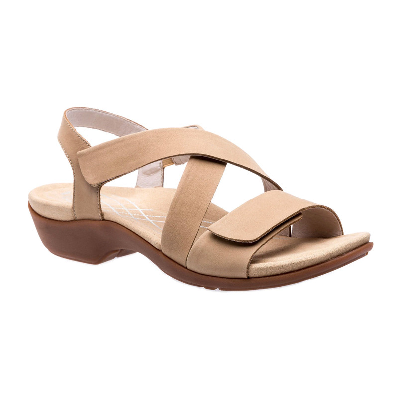 Abeo Women's Norma - Almond Buff Nubuck (Neutral Footbed) - NORMA-N-ALMOND - Angle