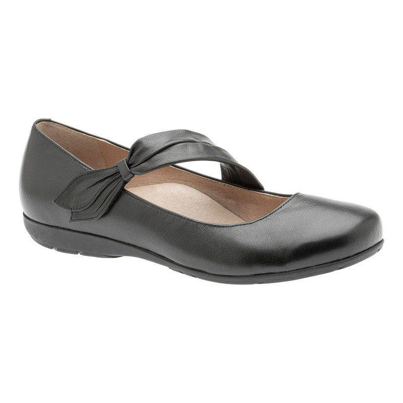 Abeo Women's Talia - Black (Neutral Footbed) - TALIA-N-BLACK - Angle