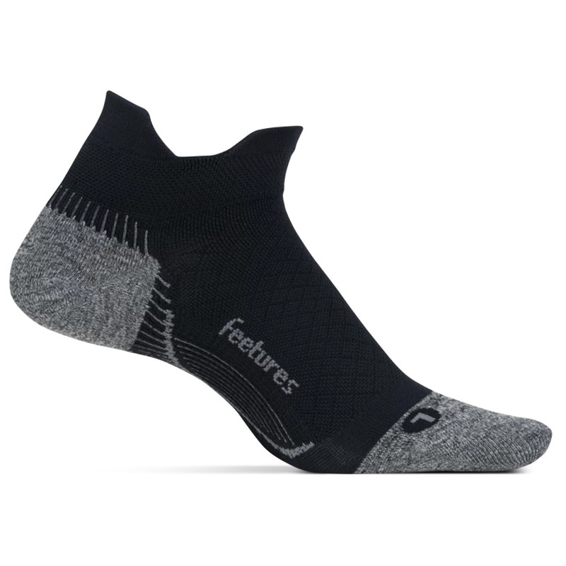 Feetures Plantar Fasciitis Relief Sock Ultra Light No Show Tab - Black - pf55159 - Main