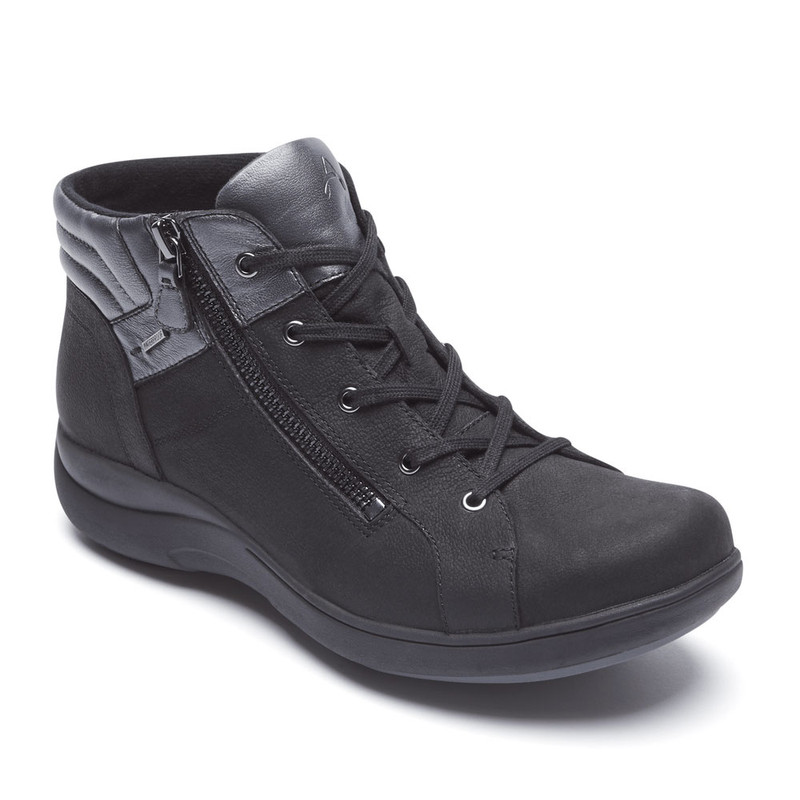 Rockport Aravon Women's Rev WP Low Boot - Black - CH3737 - Angle