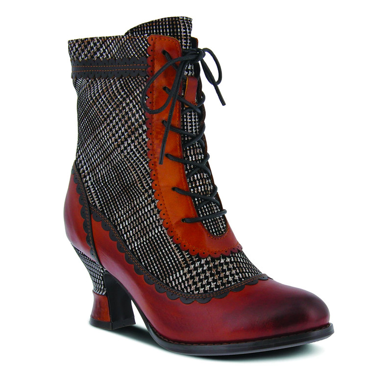 Spring Step Women's Bewitch Plaid Boot - Medium Brown Multi - BEWITCH-PLAID-MBRM - Angle