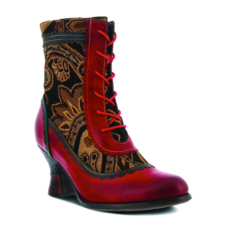 Spring Step Women's Bewitch Boot - Red Multi - BEWITCH-RDM - Angle