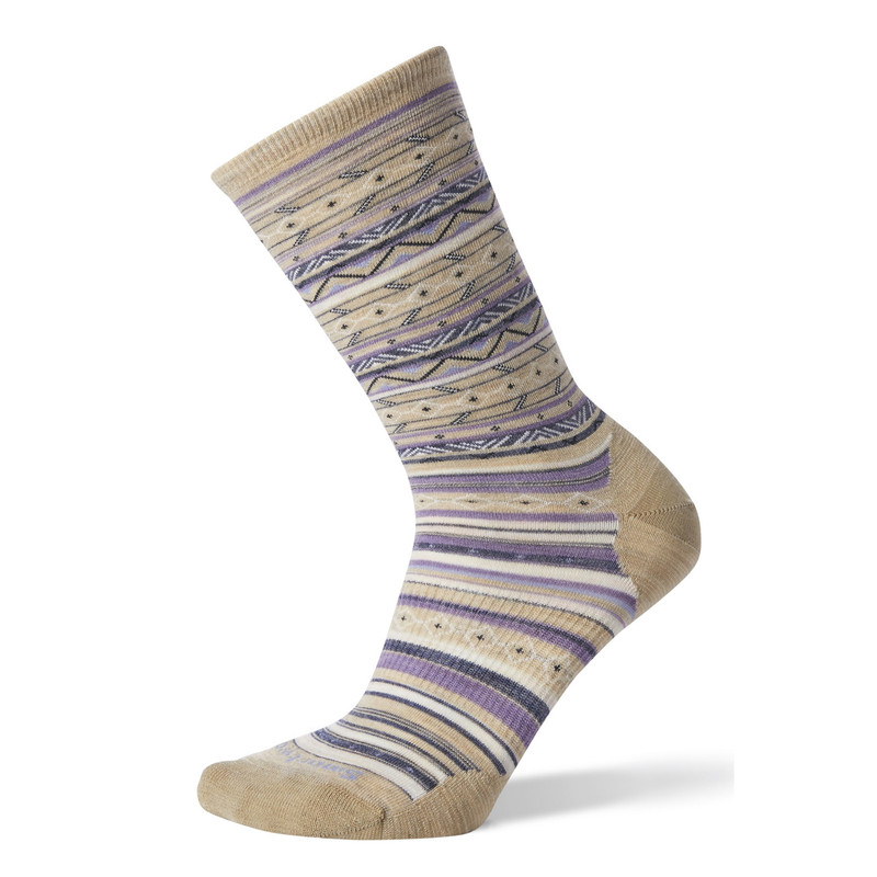 Smartwool Women's Ethno Graphic Crew Socks - Oatmeal - SW003901-241