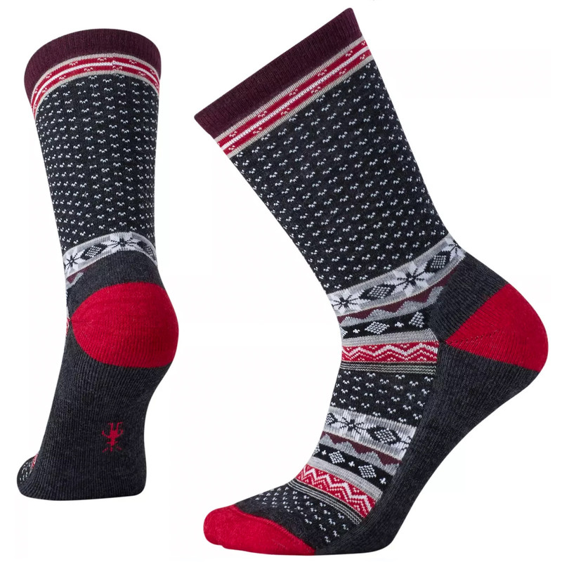 Smartwool Women's Cozy Cabin Crew Socks - Charcoal Heather - SW010048-010