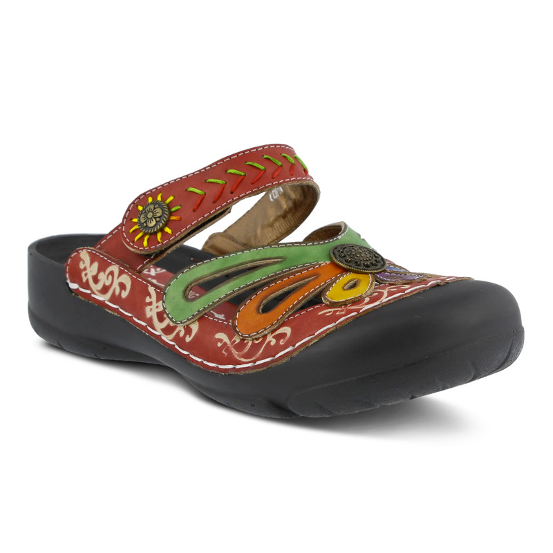 Spring Step Women's Copa Clog - Red - COPA-RDM - Angle