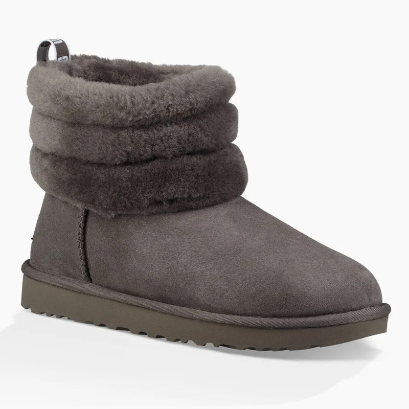 UGG Women's Classic Mini Fluff Quilted Boot - Charcoal - 1098533CHRC - Main