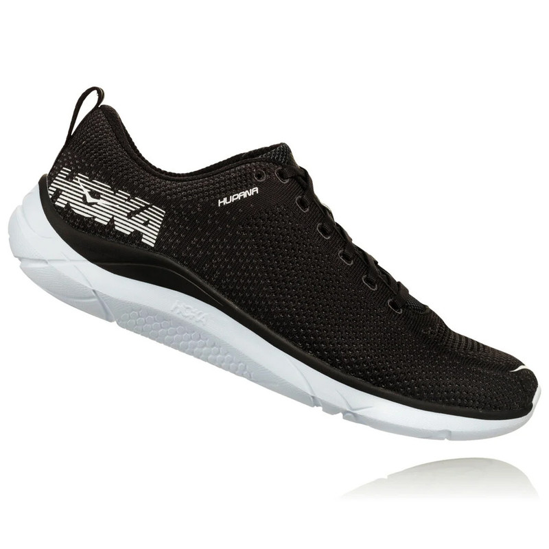 HOKA ONE ONE Women's Hupana 2 - Black / White - 1019573-BWHT - Profile