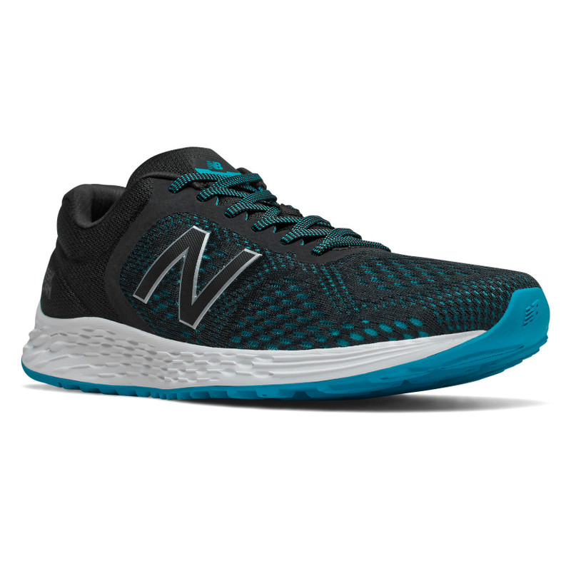New Balance Men's Fresh Foam Arishi v2 - Black with Deep Ozone Blue - MARISCT2 - Angle