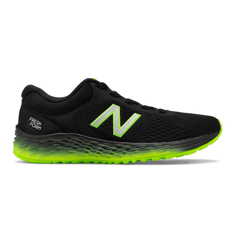 New Balance Kid's Fresh Foam Arishi v2 - Black / Green - YAARIRG - Profile