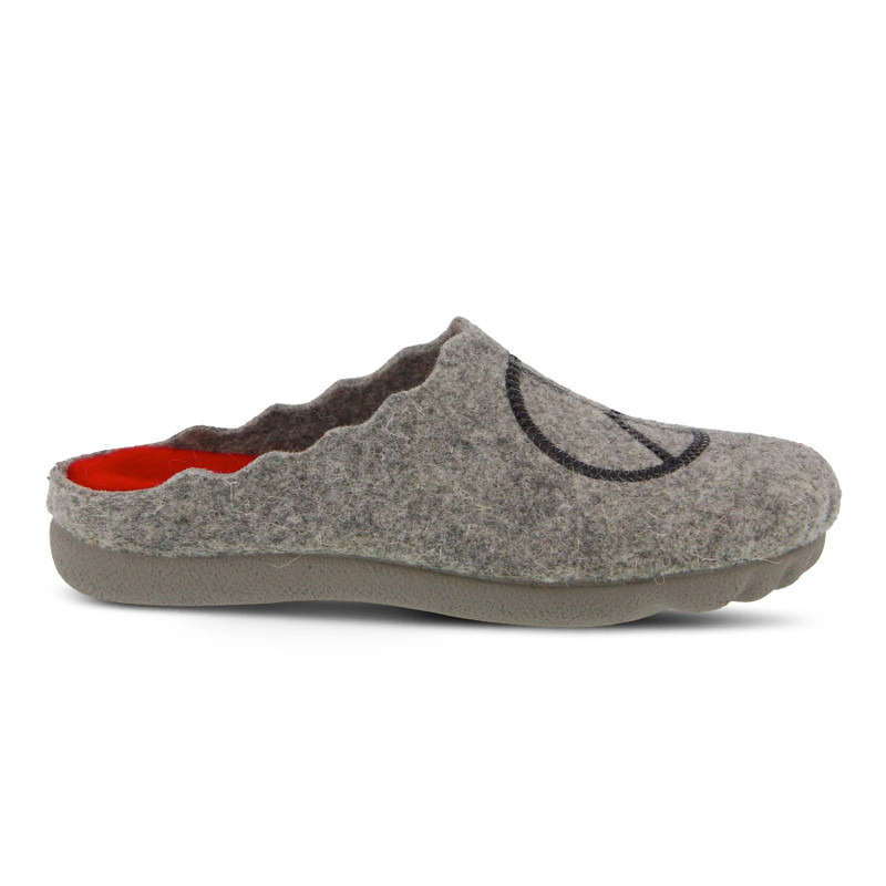 Spring Step Women's Peaceful Slipper - Grey - PEACEFUL/GRY - Profile