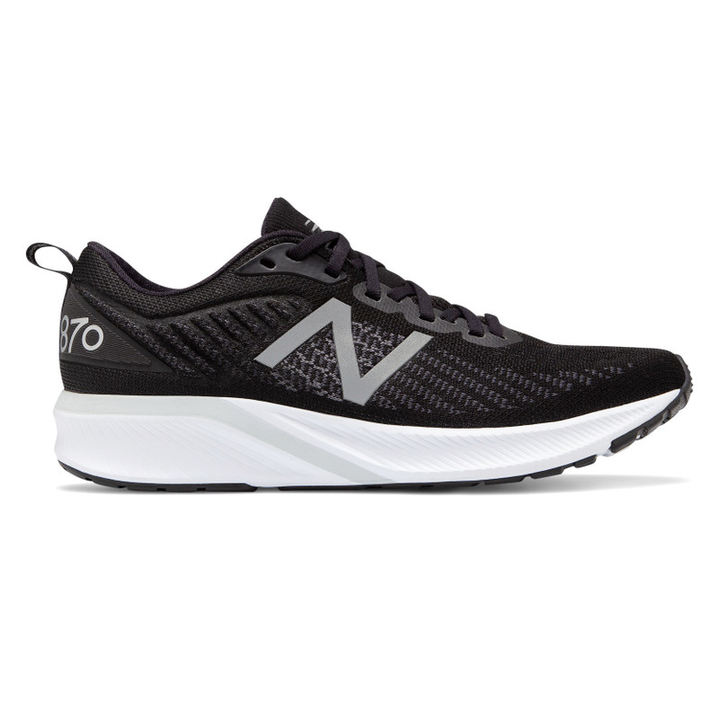 New Balance Men's 870v5 - Black with White & Orca - M870BW5 - Profile