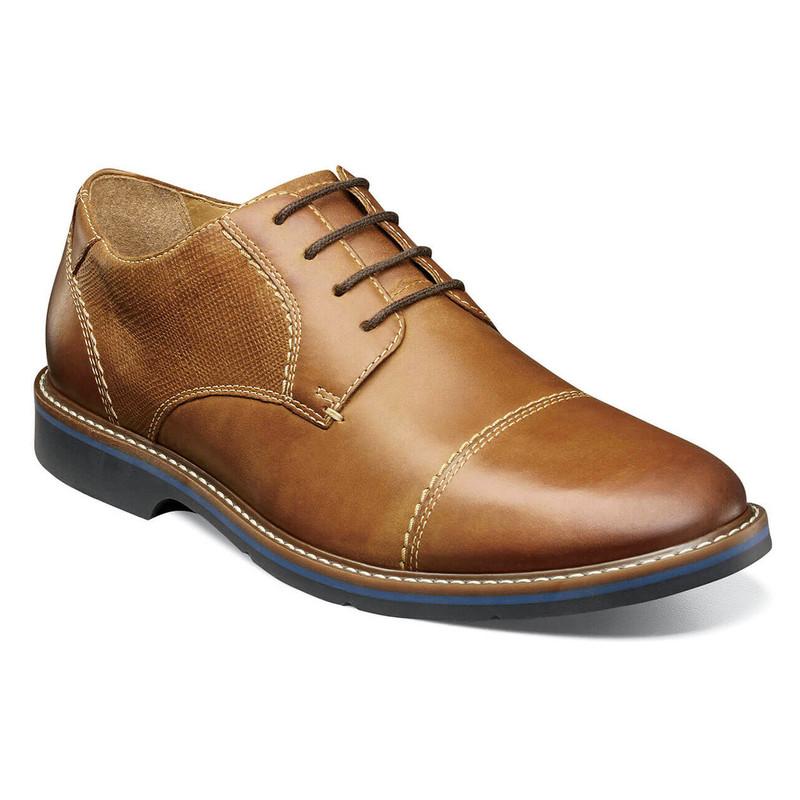 Nunn Bush Men's Pasadena Cap Toe Oxford - Cognac - 84831-221 - Angle