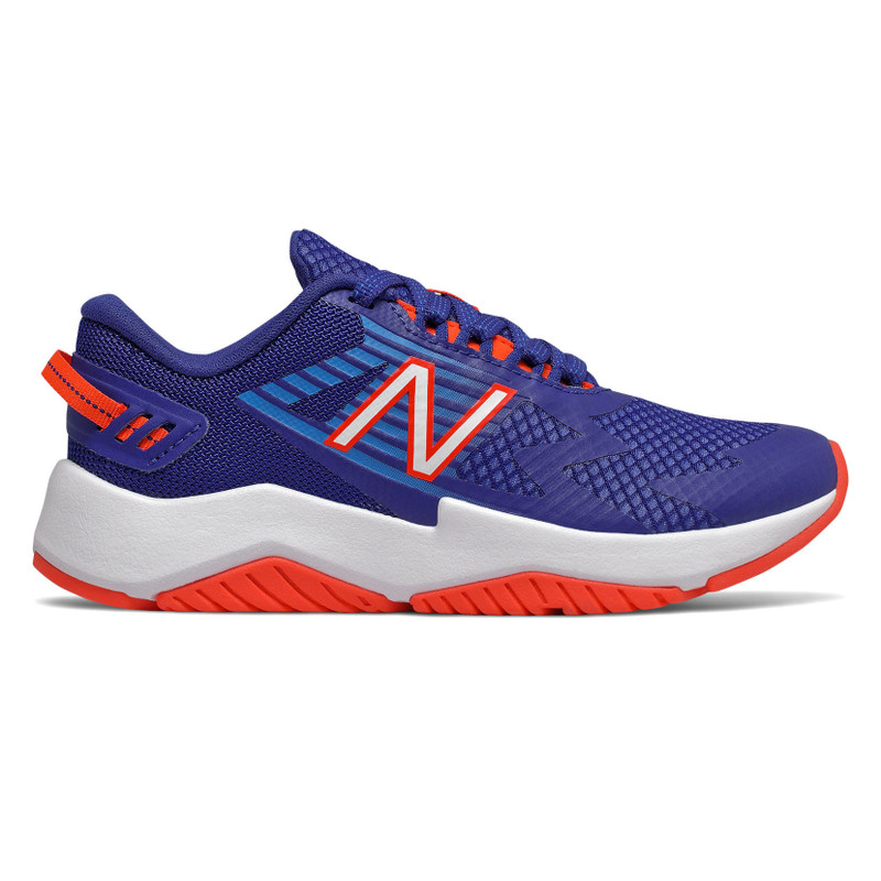 New Balance Rave Run - Marine Blue / Vision Blue / Neo Flame - YKRAVLM1 - Profile