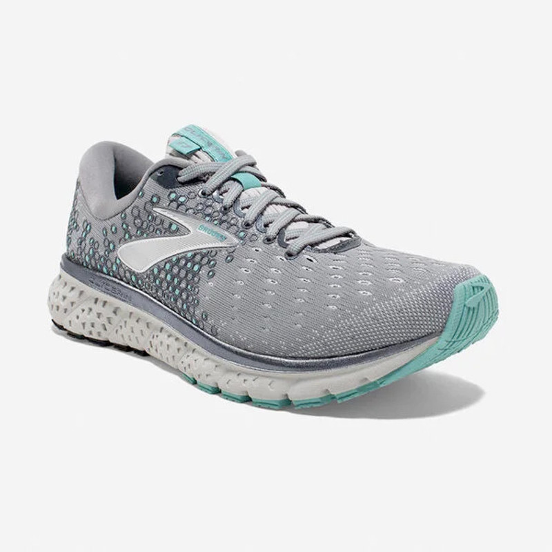 Brooks Women's Glycerin 17 - Grey / Aqua / Ebony - 120283-070 - Angle
