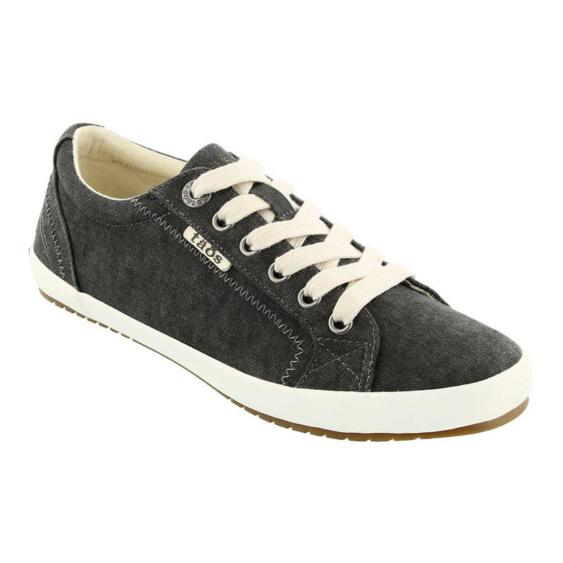 Taos Footwear Women's Star - Charcoal Wash Canvas - STA-12844-CHAR - Angle