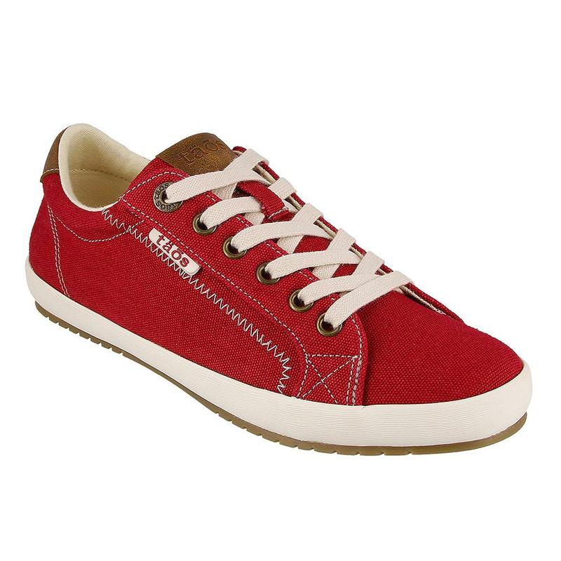 Taos Footwear Women's Star Burst - Red / Tan - STB-13834-RT - Angle
