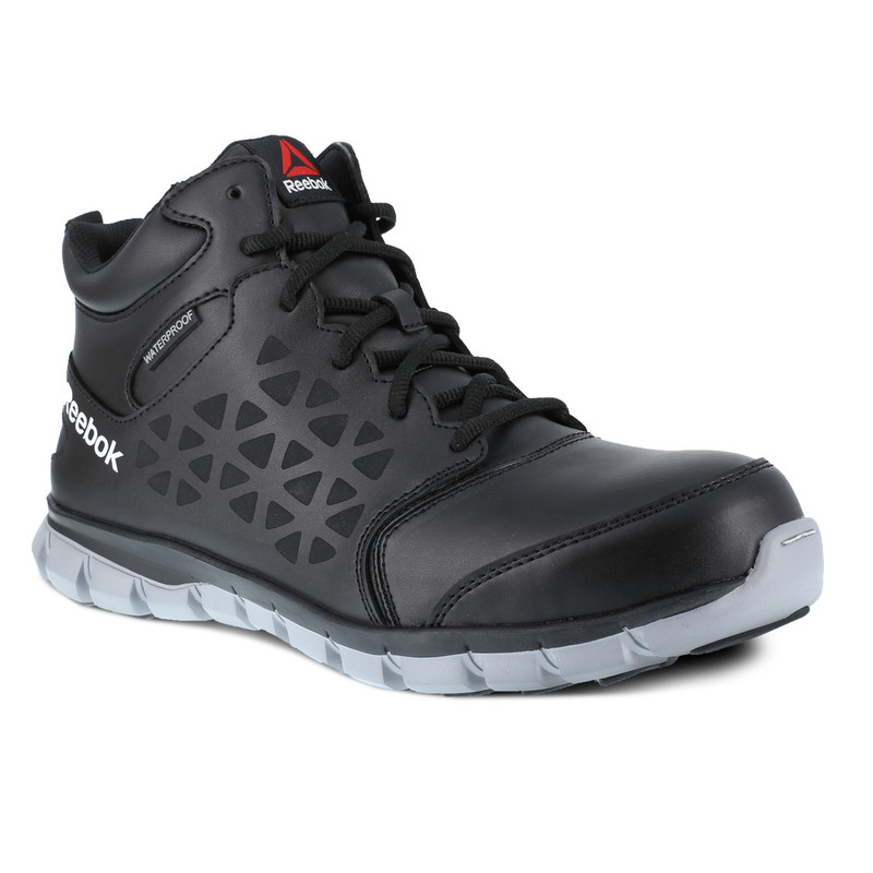 Reebok Men's Sublite Cushion Mid-Cut Work Boot - Black / Grey - RB4144 - Main