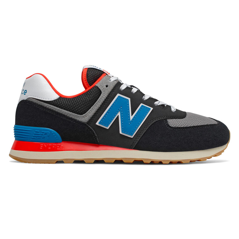 New Balance Men's 574 Core Plus - Black with Neo Classic Blue & Nebula - ML574SOV - Profile