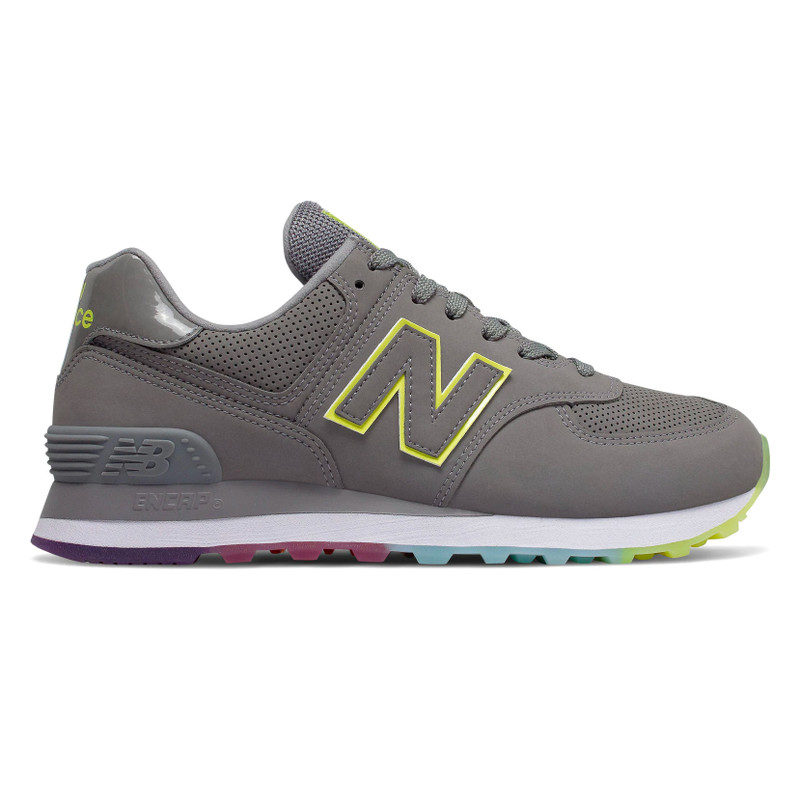 New Balance Women's 574 Outer Glow - Marblehead with Lemon Slush - WL574SOM - Profile