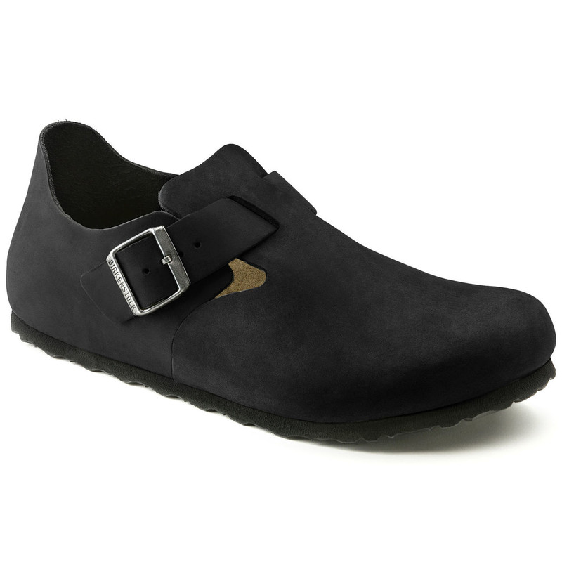 Birkenstock London - Black Oiled Leather (Regular Width) - 166541 - Main Image