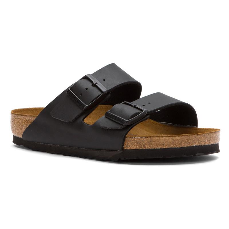 Birkenstock Arizona Soft Footbed - Black Birko-Flor (Narrow Width) - 551253 - Angle